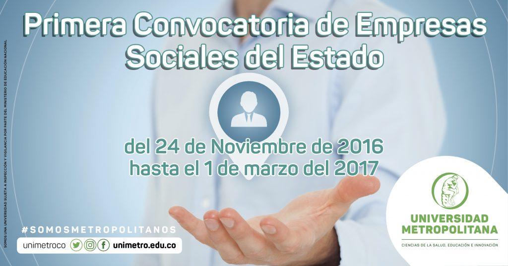 Primera Convocatoria de Empresas Sociales del Estado
