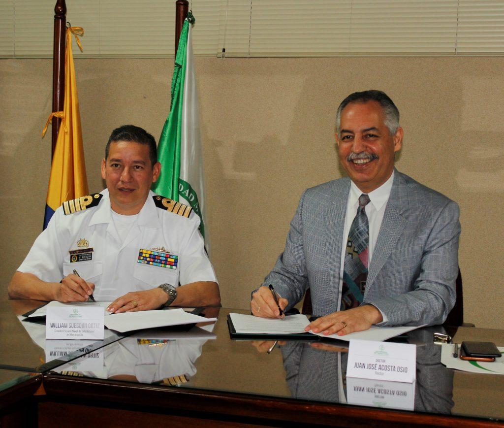 FIRMAN CONVENIO DE COOPERACIÓN INSTITUCIONAL ENTRE LA UNIVERSIDAD METROPOLITANA Y LA ESCUELA NAVAL DE SUBOFICIALES A.R.C. BARRANQUILLA