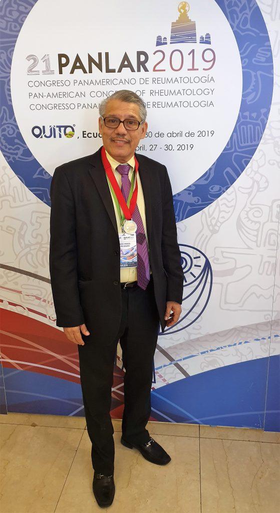 Liga Panamericana de Reumatología destacó a docente de Unimetro