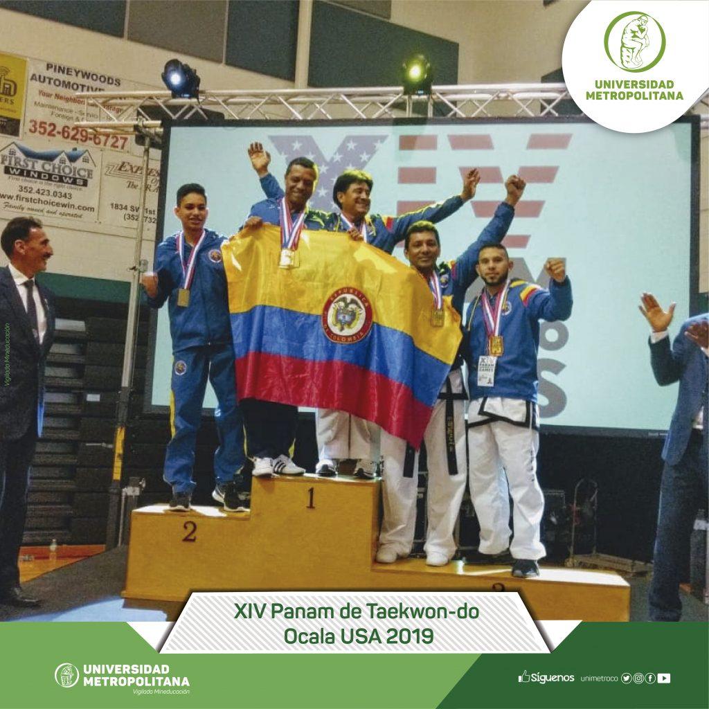 Delegación de Taekwon-do gana Oro y Bronce para Colombia en Estados Unidos